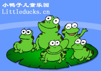 英文童谣flash Five Funny Frogs