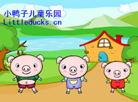 英文儿歌flash Three Little Pigs